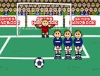 Free-kick-game-with-novice-footballers