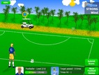 Football-game-op-een-golfbaan